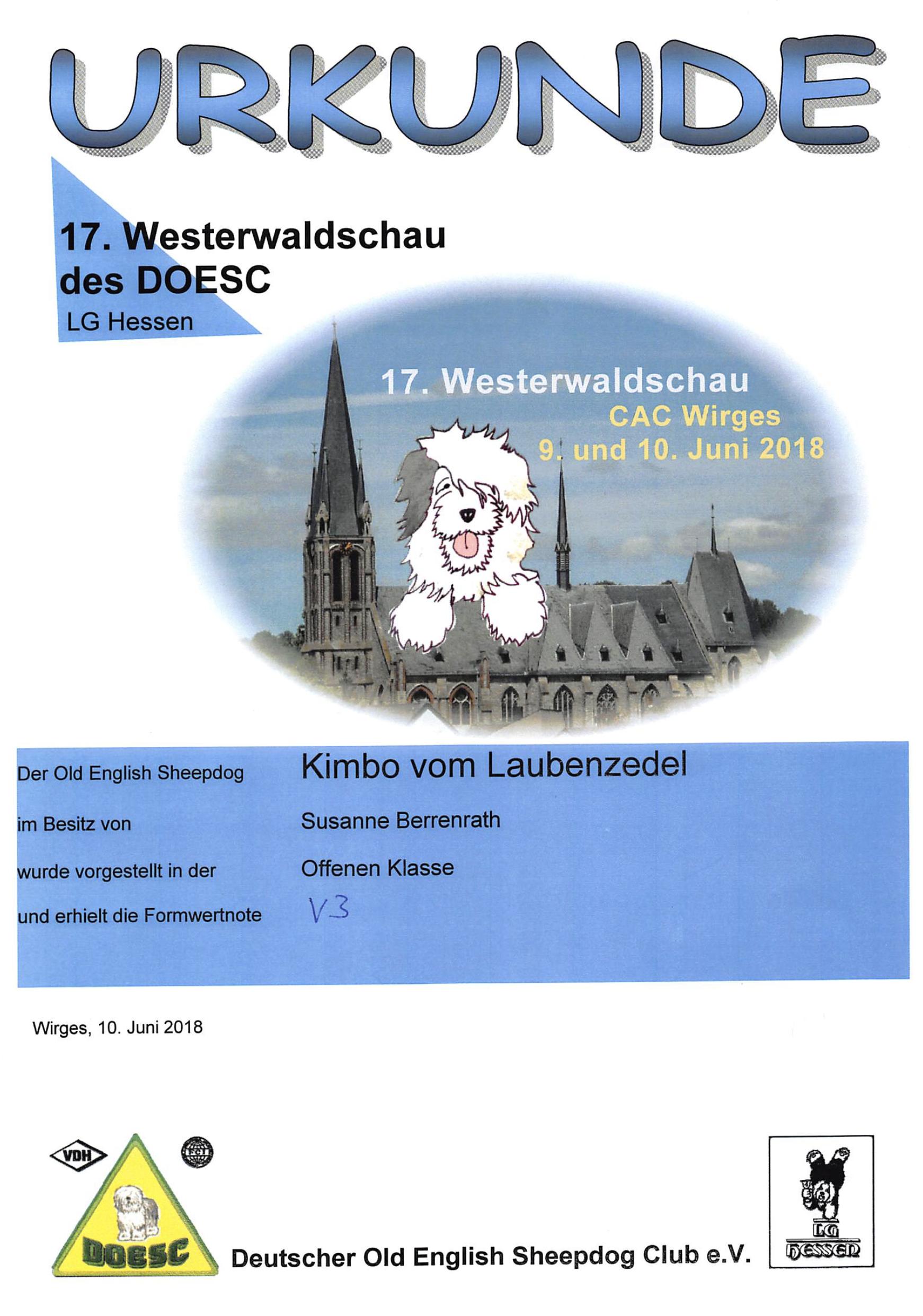 17. Westerwaldschau des DOESC