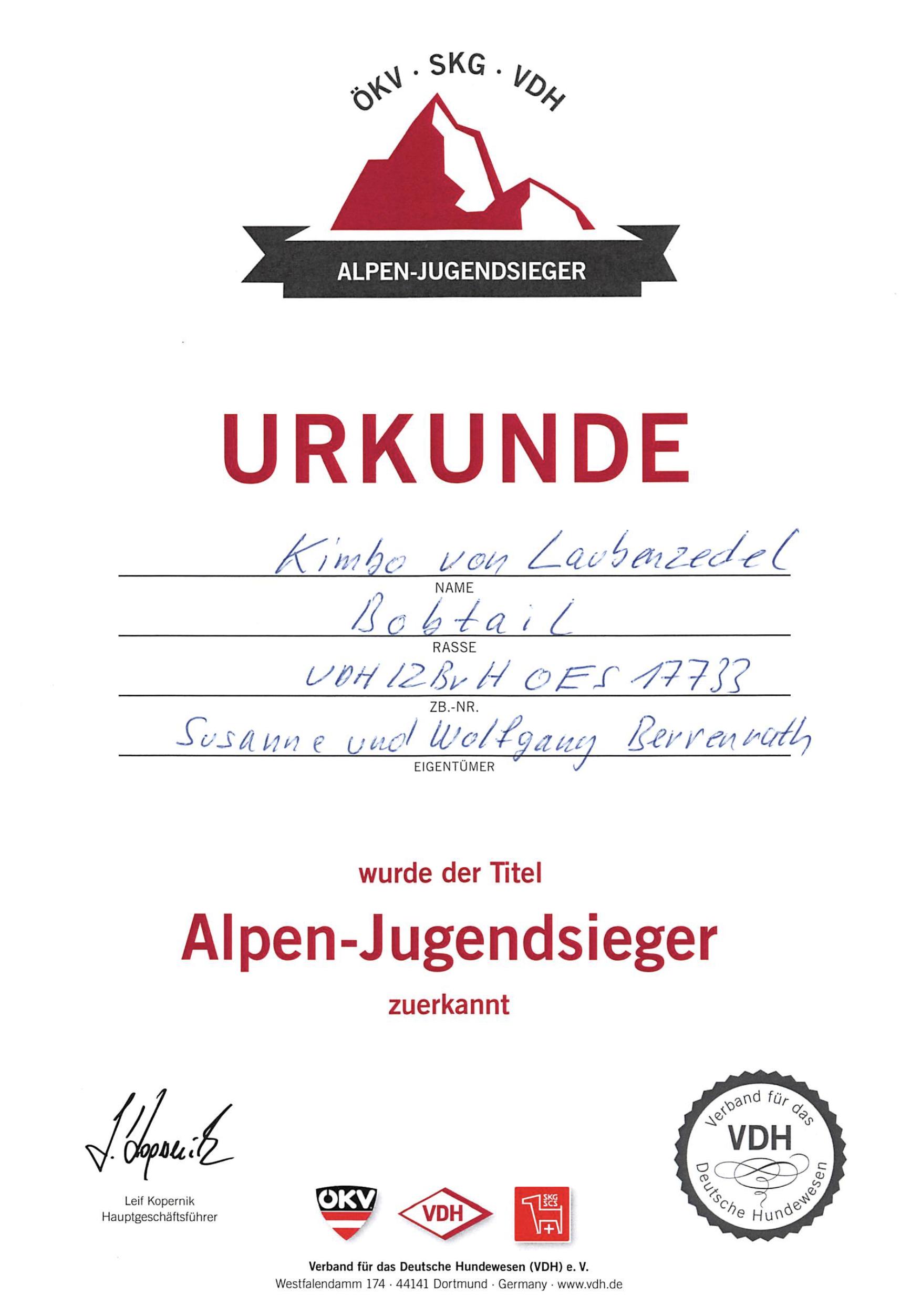 Alpen Jugensieger